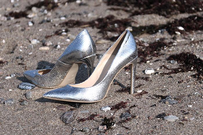 Glamour und Meer - Silber Pumps